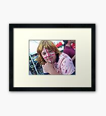 Pink . God Save the Queen . Welcome at Krakow !  Framed Print
