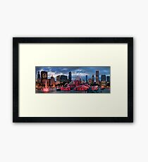 Chicago Blackhawks Skyline Framed Print