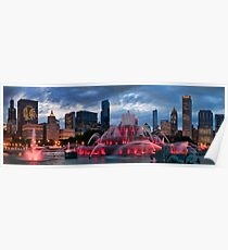 Chicago Blackhawks Skyline Poster
