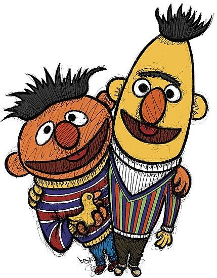 Bert And Ernie by Brett Gilbert