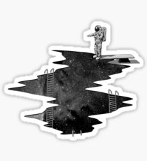 Space Diving Sticker