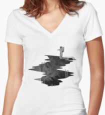 Space Diving Women's Fitted V-Neck T-Shirt