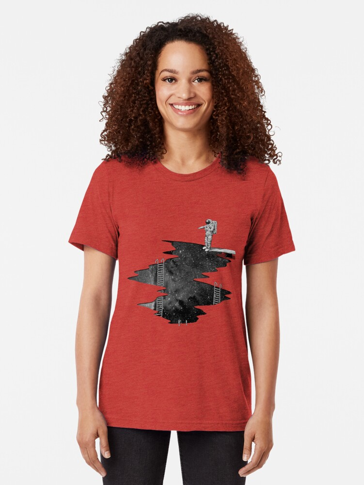 Alternate view of Space Diving Tri-blend T-Shirt