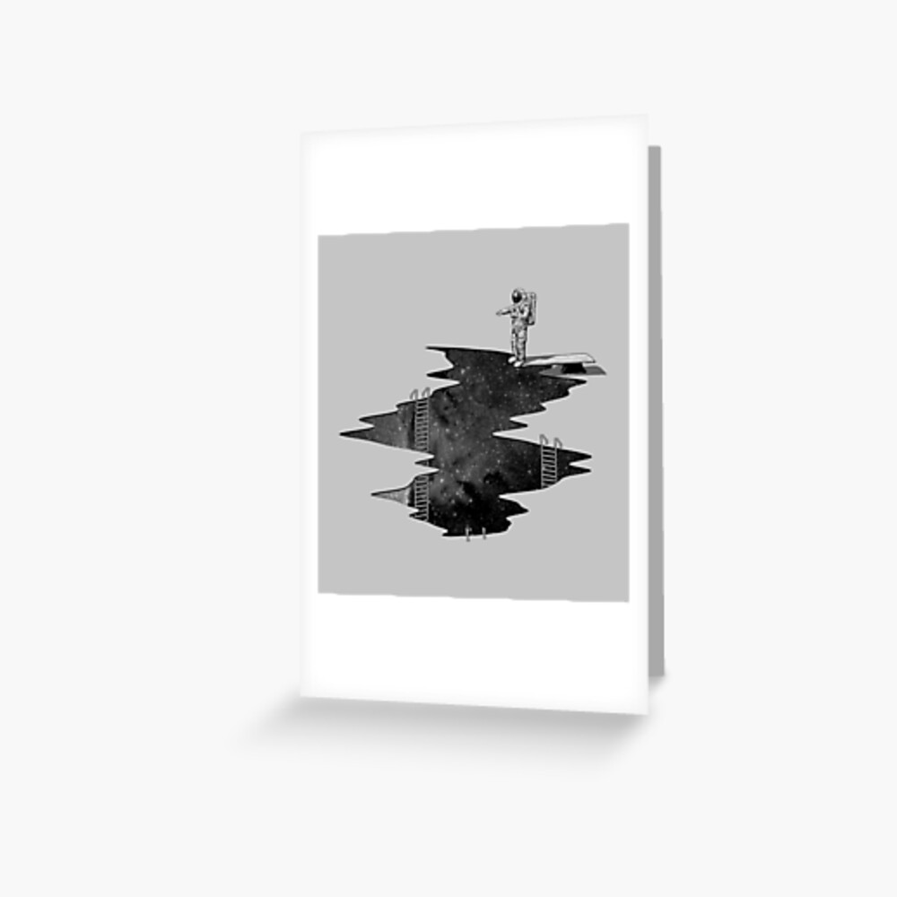 Space Diving Greeting Card