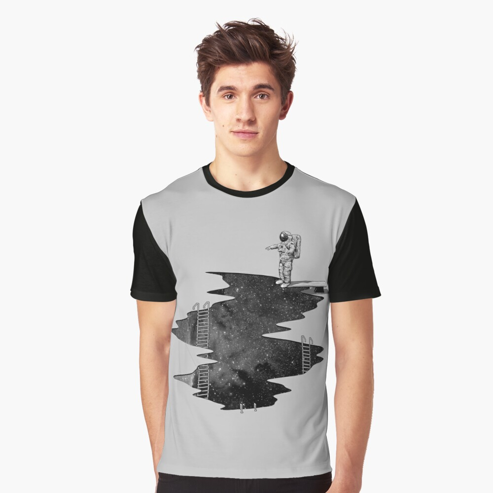 Space Diving Graphic T-Shirt