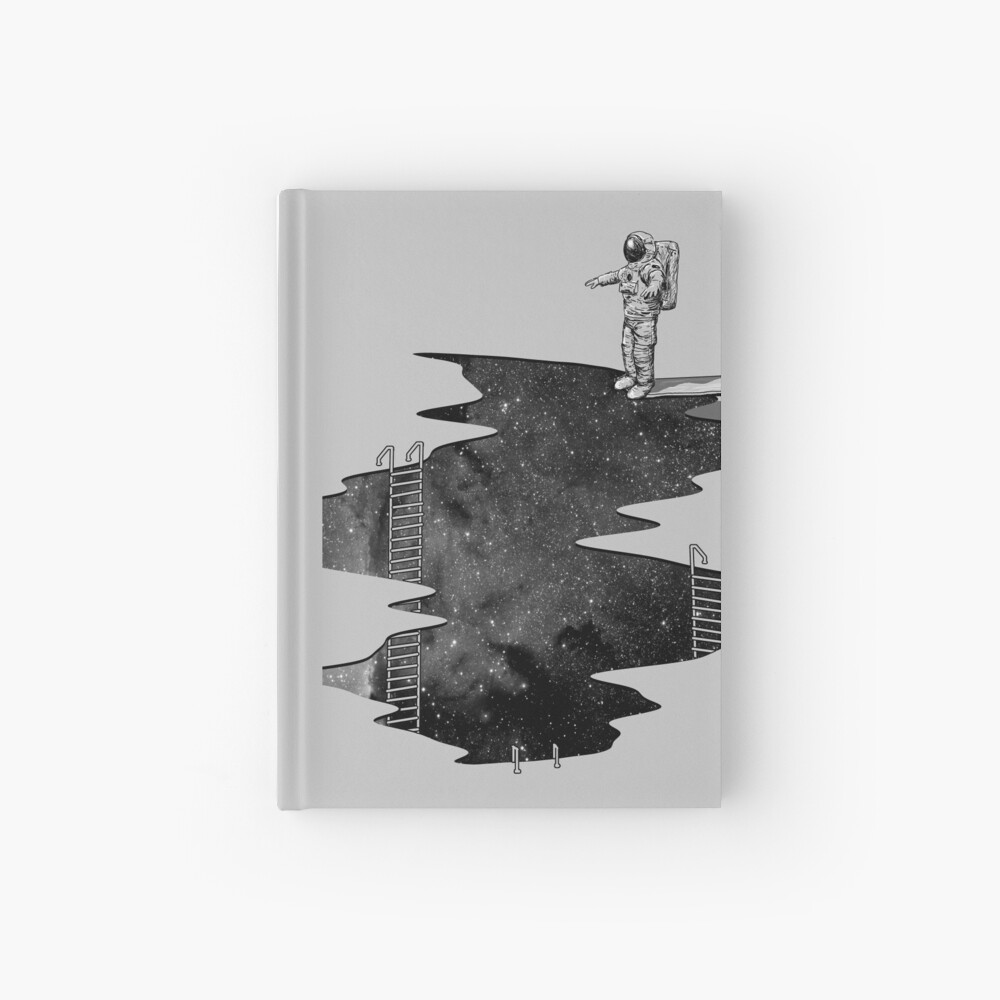 Space Diving Hardcover Journal