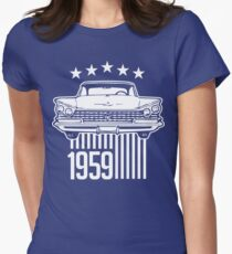 1959 Buick illustration Women's Fitted T-Shirt