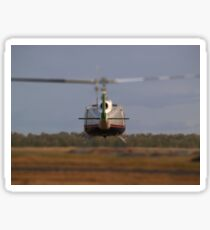 Huey Helicopter Departing Sticker