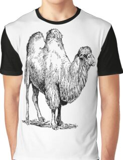 Bactrian Camel Vintage Illustration Graphic T-Shirt