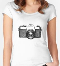 35mm Camera Women's Fitted Scoop T-Shirt
