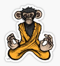 Zen Monkey Sticker