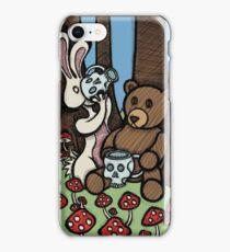 Teddy Bear and Bunny - The Mushroom Forest iPhone Case/Skin