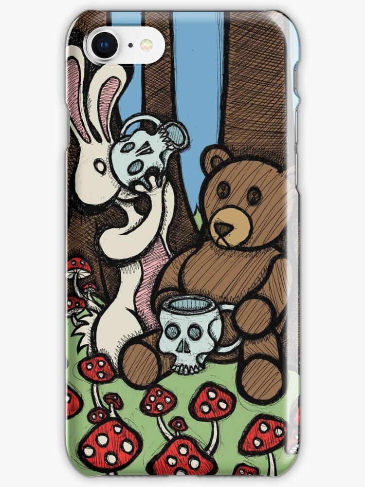Teddy Bear and Bunny - The Mushroom Forest by Brett Gilbert