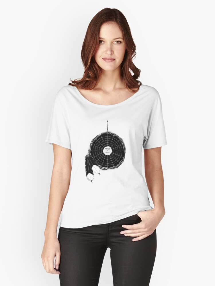 Music Catcher Women's Relaxed Fit T-Shirt Front