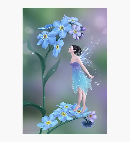 Forget-Me-Not Flower Fairy Photographic Print