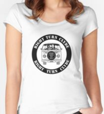Right Turn Clyde ( Any Which Way But loose ) Women's Fitted Scoop T-Shirt