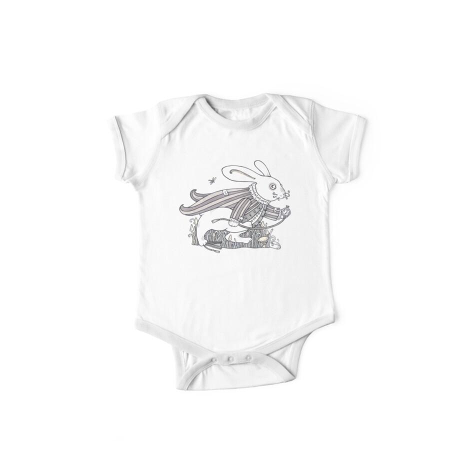 The White Rabbit Rush (T-shirt) by Anita Inverarity