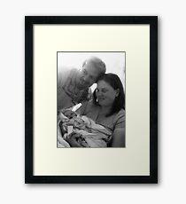 New Dad, New Mom, New Gift of God Framed Print