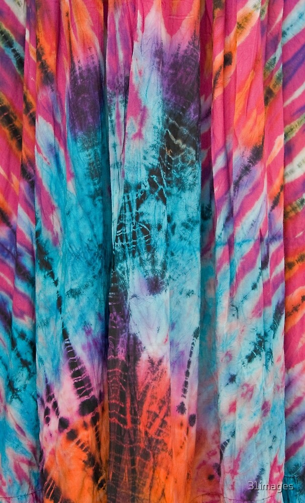 Colorful Eye Catching Tie Dye Fabric by 31images