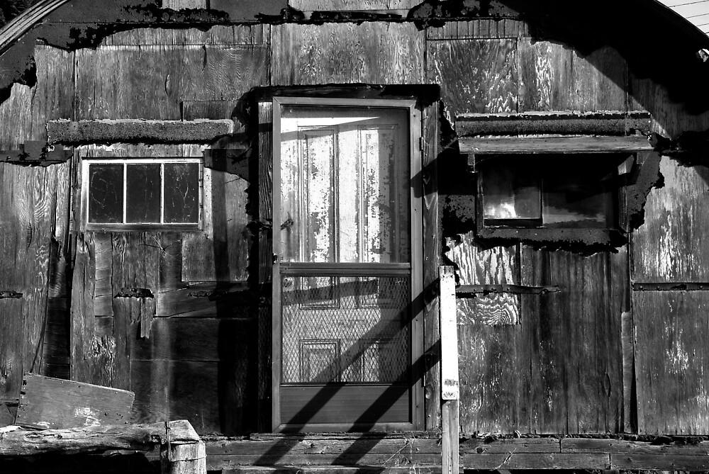 Black and White shack Hawaii by GreyCard
