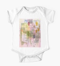 A Circle Amongst Squares One Piece - Short Sleeve