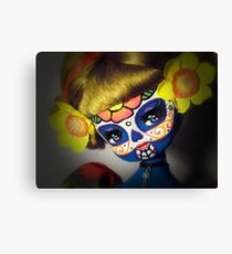 poppy day of the dead painted doll photo Canvas Print