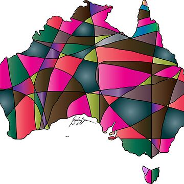 Quilted Australia Map by emilybieman
