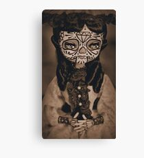 sienna day of the dead handpainted doll photo Canvas Print