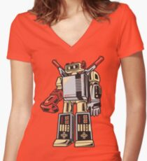 NESTRON Women's Fitted V-Neck T-Shirt