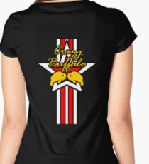 Street Fighter IV Boxer - Crazy Buffalo (Stars & Stripes) Women's Fitted Scoop T-Shirt