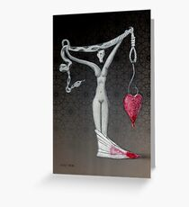 Weight of my heart, not the size Greeting Card