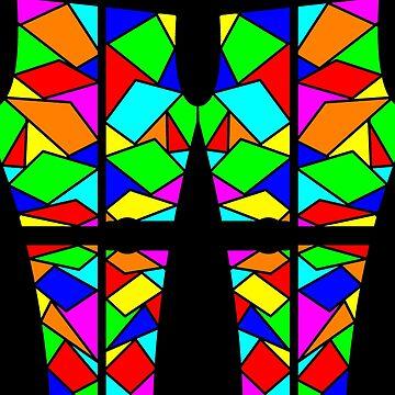 Stain glass leggings by DerBen