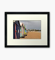 Bathing Boxes Framed Print