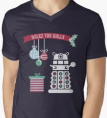 """Dalek the halls"" Christmas Design Men's V-Neck T-Shirt"