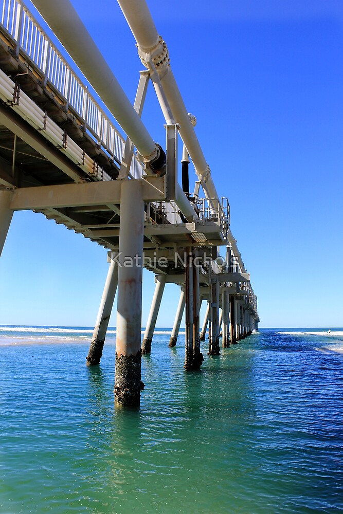 Southport Sand Pumping Jetty by Kathie Nichols