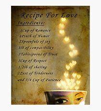 Recipe for Love Photographic Print