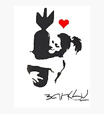 Banksy Hugger Red Photographic Print