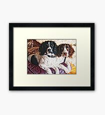 Benson and Jess - best friends Framed Print