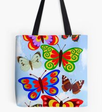 8 BUTTERFLY'S - BRUSH AND GOUACHE Tote Bag