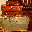Vintage Suitcase by Lorraine Caballero Simpson (c more vision photography)