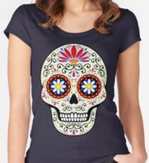 sugar skull Fitted Scoop T-Shirt