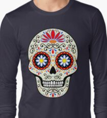 Camiseta de manga larga cráneo del azúcar