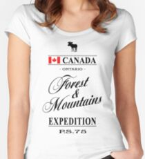 Canada - Ontario Women's Fitted Scoop T-Shirt