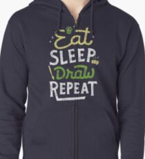 Repeated Zipped Hoodie