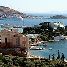 Harbor View from Kusadasi by Laurel Talabere