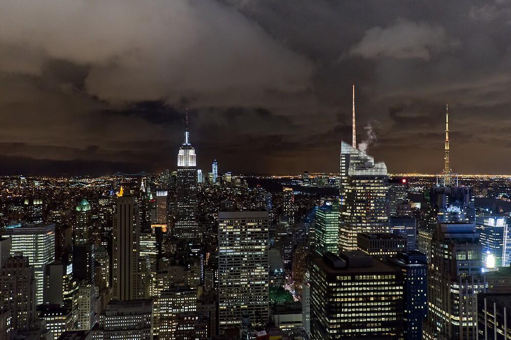 New York skyline at night by Gary Eason