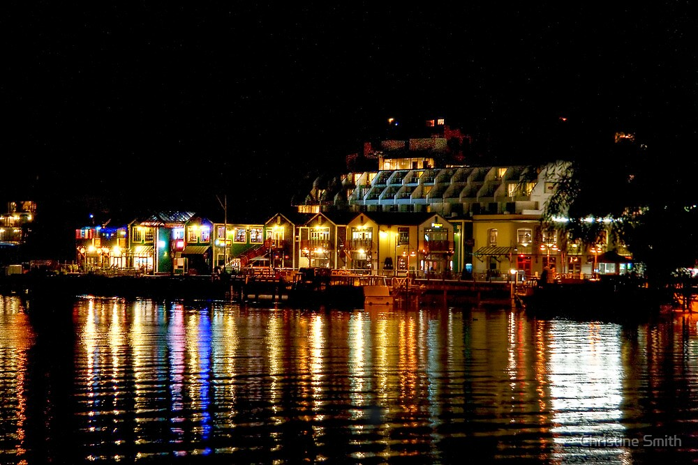 Queenstown Lights on Lake Wakatipu by Christine Smith