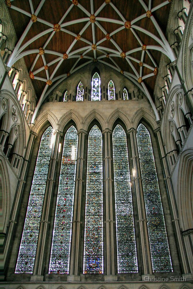 The Five Sisters Window in York Minster by Christine Smith