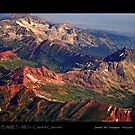 Colorful Colorado Rocky Mountains Planet Art Poster by Bo Insogna