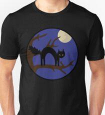 Black kitty in a tree Unisex T-Shirt